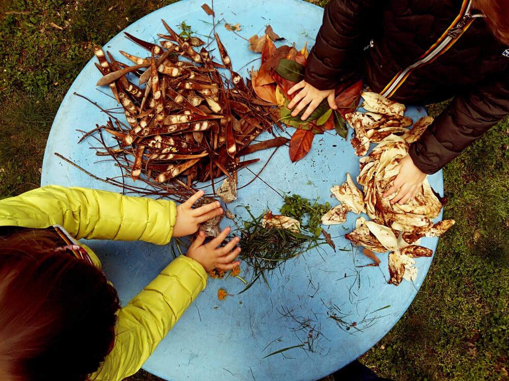 Tastspiel - Wald mit Kindern
