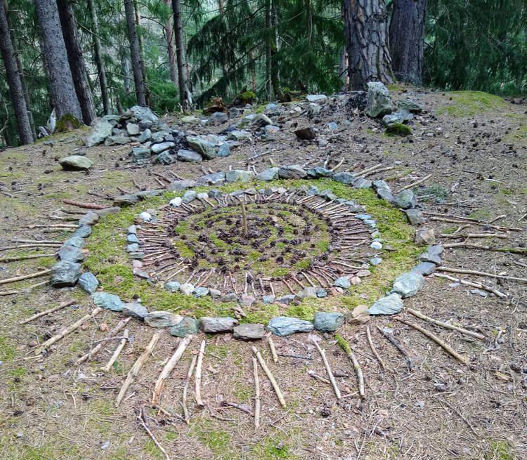 Waldboden Mosaik